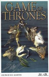 Game Of Thrones Vza 123+4 + Signed Artprint`s George R.martin Lim.99 Ex Deluxe
