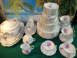 67 Piece Set Of Edelstein Bavaria Maria Theresia Made In Germany Steatford 18789