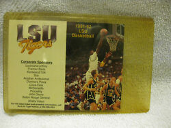 Shaquille O'neal 1991 Lsu Tigers Basketball Pocket Schedule New Shaq Rare