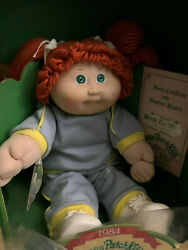 Vintage 1984 Cabbage Patch Kids Doll, Red Head Green Eyes Adena Frederick