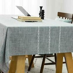 Shabby Chic French Country Farmhouse Green Blue 52 X 72 Inch Tablecloth