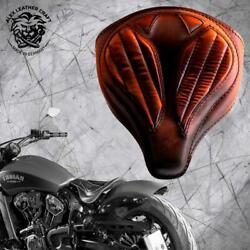 Solo Seat Indian Scout Since`17+mounting Kit+springs Spider Vint Sad Tan V2 M