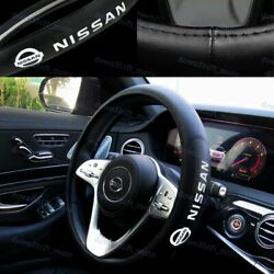 New Faux Leather For NISSAN New Black 15quot; Diameter Car Auto Steering Wheel Cover $28.88