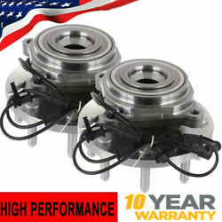 For 2012 2013 Ram 2500 3500 4wd Pair 2 Front Wheel Bearing And Hub 8-lug W/abs