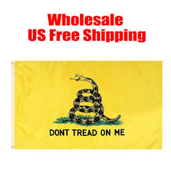 Wholesale Gadsden Donand039t Tread On Me Flag 3x5and039 Feet House Banner Super Polyester