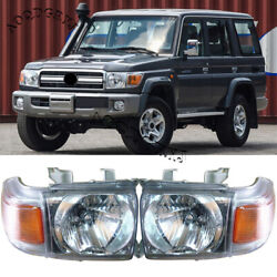 Front Bumper Headlight Replace Kit For Land Cruiser Lc70 Lc76 Lc79lc71 2007-2017