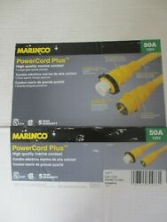 Marinco Powercord Plus Boat Extension Cord Marine Cordset 50a 110v 125v 50and039 Ss1