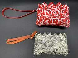 Nahui Ollin And Ecoist Small Recycled Materials Clutch Bags Lot Of 2 Bags $16.99