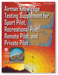 Faa Airman Knowledge Testing Supplement - Sport Private And Rec Pilot - 8080-2h