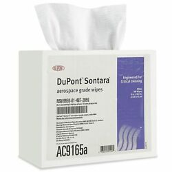 Dupont Sontara White Aircraft Wipes - Case Of 8 Boxes Of 100 800 Wipes Ac9165