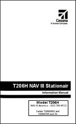 Cessna Turbo Stationair Information Ownerand039s Manual Poh T206h G1000 And Gfc-700