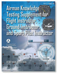 Airman Knowledge Testing Supplement Flight Ground And Sport Instructor - 8080-5h