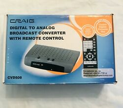 CRAIG Digital to Analog Broadcast Converter with remote control .
