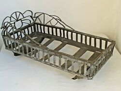 Antique Anniversary Tin Large Doll Cradle The Best