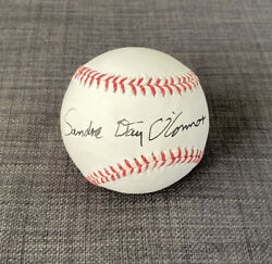 Extremely Rare Sandra Day O'connor Jsa Signed Baseball Supreme Court Justice