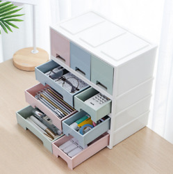 PP Cosmetic Box Storage Drawers Desktop Organizer Stackable Wardrobe Shelf Rack