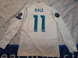 Real Madrid 2017-18 Ls Home Bale Match Player Issue Shirtbn Without Tag