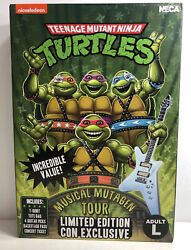 Limited Sdcc 2020 Neca Tmnt Musical Mutagen Tour Merch Pack Size Large New Rare