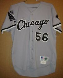 Chicago White Sox Roly Dearmas 56 Gray Button-down Mlb Russell Size 46 Jersey