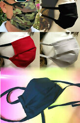 Face Mask with Ties Straps Solid Cotton for Renaissance Festival Texas Fen fest $4.05