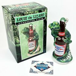 1997 Louie The Lizard Character Budweiser Stein W/ Numbered Coa Signed By Artist
