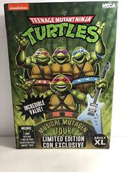 Limited Sdcc 2020 Neca Tmnt Musical Mutagen Tour Size Xl New Rare