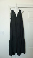Prologue black sleevless midi dress New Large summer casual black cute $23.99