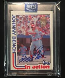 Johnny Bench 2020 Topps Archives Signature Series 1982 True Autograph /10 Reds