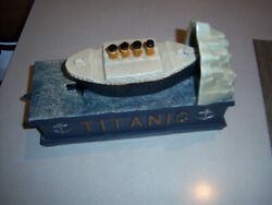 Htf Neat Collectorand039s Metal Titanic Cast Iron Toy Bank Piggy Bank Coin Bank