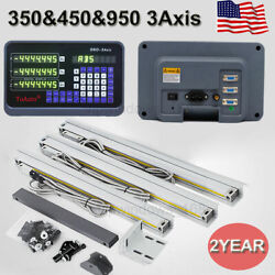 Usdigital Readout 3axis Dro Display Ttl Linear Glass Scale 350and450and950mm Set