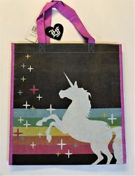Loungefly Unicorn Tote Reusable Eco Friendly Glitter Sparkle Bag Shopping Travel $10.00