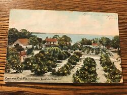 Crescent Lake from Grove Hall Crescent City Florida FL Postcard