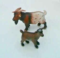 Schleich Minnie Billy Goat And A Dwarf Goat Kid Discontinued And Rare.