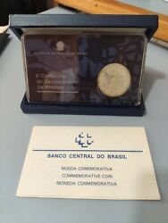 Silver Brazilian Coin - V Centenary Of The Discovery Of America