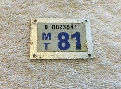 1981 License Plate Tab - Vintage 81 Auto Tag Topper Accessory Chevy Ford Harley