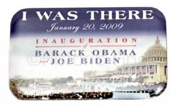 2009 Barack Obama Joe Biden Inauguration I Was There Official Button Pin Mint