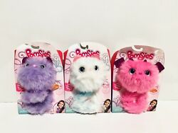 Pomsies Pet Speckles Snowball And Zoey Plush Interactive Toys Wearable Lot 3 New