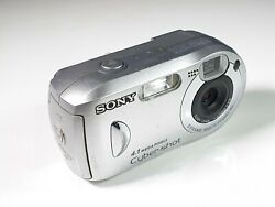 Collectible Sony Dsc-p43 Cybershot 4.1 Mpx Silver 5 Frame Multi Point Af - Japan