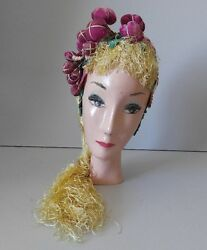 Vintage Mannequin Bust Jewelry Display Fashion Head Hat Millinery