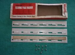 Nos Fishing Pole Holder - Vintage Rod Carrier Carryall Pickup Wagon Accessory