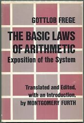 Gottlob Frege / The Basic Laws Of Arithmetic First Edition 1964