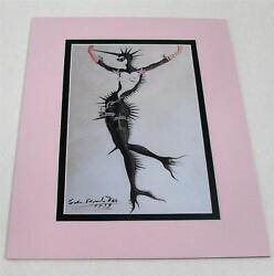Salvador Dali Masked Mermaid in Black art inspired fetish clothes matted