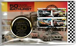 2012 50 Years Racing At Bathurst Stamp First Day Cover Medallion Cover Pnc No489