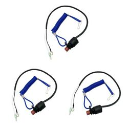 3x Boat Engine Safety Emergency Kill Stop Switch Lanyard For Yamaha Outboard