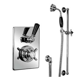 Lefroy Brooks 8715 Shower Valve 4 Jets And Sliding Rail - Silver Nickel Rrp Andpound2402