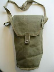 Wwii Ww2 Italian Army T.35 Mask Carrier W/original Shoulder Strap And Regt Id Disk