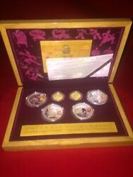 2008 Bejiing Olympic Commemorative Gold And Silver Series 1 Coin Set