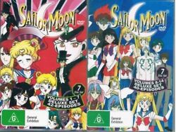 Sailor Moon Dvd Volumes 1-7 And 8-14 English 2 Box Set New Pal Region 0