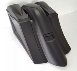 2009-13 Long Sweep Saddlebags And Fender 6andrdquo Harley Davidson Touring 6x9 Lids