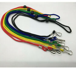 5 Pack Of Multi Color Face Mask Lanyard Holder Necklace With J Hook Style Clasp $11.49